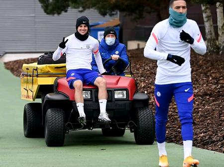 Chelsea player Mason Mount takes a ride to training ground