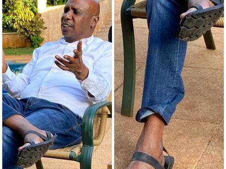 Netizens Comment About The Sandals Gideon Moi Was Spotted Wearing