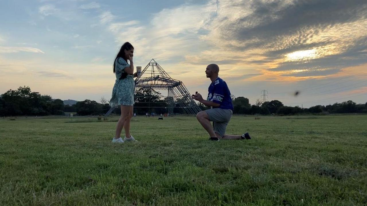Glastonbury Festival campsite a worthy place for proposal...