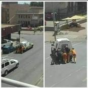 Prisioners Were Kind To Push The Police Van That Held Them Inside:See Pictures