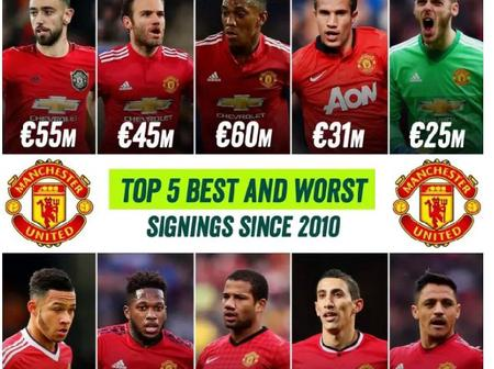 Checkout Manchester United 5 Best And Worst Singing Since 2010