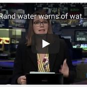 Rand water warns of water problems around Joburg