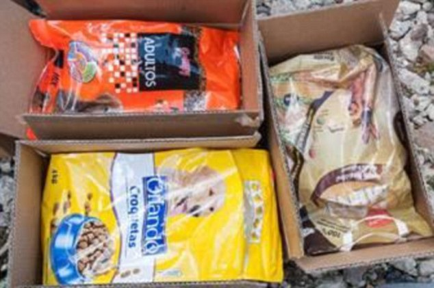 Four aging drug smugglers who imported more than £2 milloin worth of cannabis into the UK disguised as dog and cat biscuits (pictured)