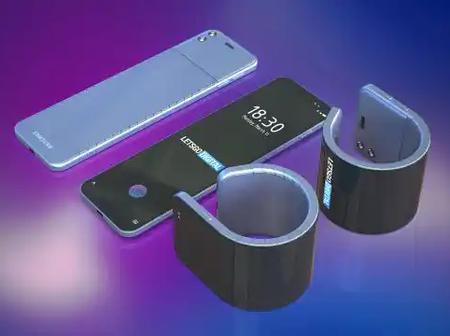 Bendable smartphone that you can wear as a watch