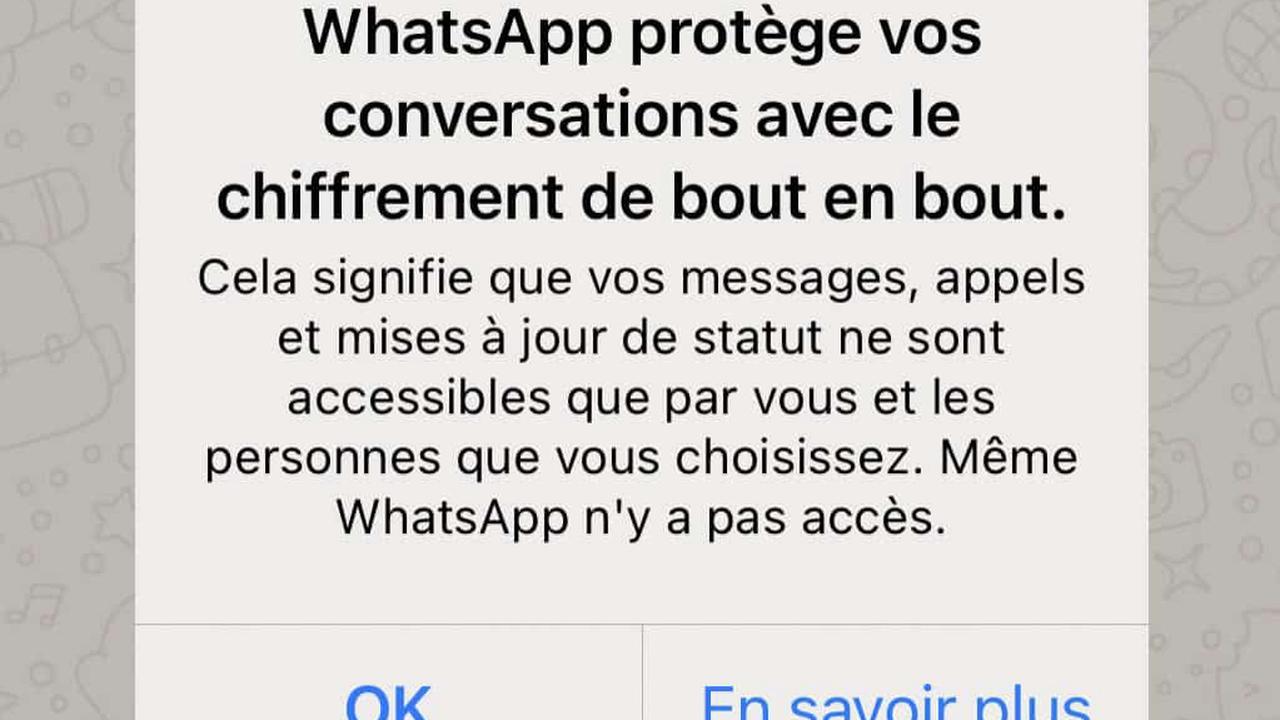 WhatsApp peut lire vos messages, même s'ils sont chiffrés