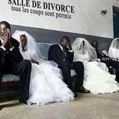 In Ghana you wear like your wedding day to get divorced