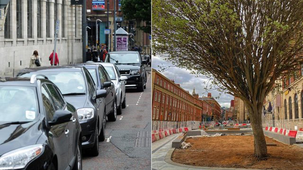 This is how different Cookridge Street looks as builders race to get city centre work done before April 12