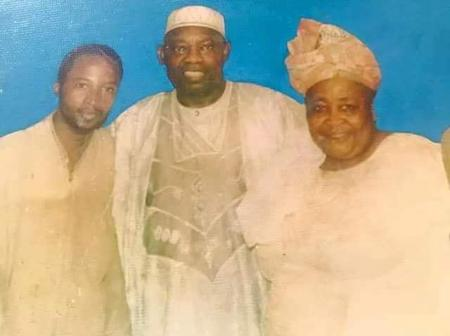 Photo of MKO Abiola, Shehu Sani & Hajiya Gambo Sawaba After June 12 Movement Meeting in Kaduna, 1993