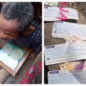 See reactions as dozens of allegedly used clothes and ATM cards were discovered in a ritualist den