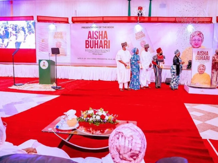 Aisha Buhari book launch attracted a lot rich Nigerians, see five top donors and what they donated.