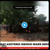 Fulani Settlement burnt down in a video by Sunday Igboho led hoodlums in Oyo State (Watch video)