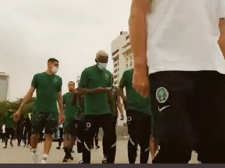 Photos Of Super Eagles Arriving Teslim Balogun Stadium, For Their Game Against Lesotho Surfaces.