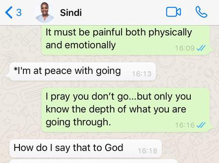 Dr Sindi's goodbyes, here she literally felt she is going to heaven before she passes away
