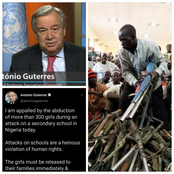 Hours After Armed Bandits Kidnapped Over 300 Girls In Zamfara, See What UN Secretary-General Tweeted