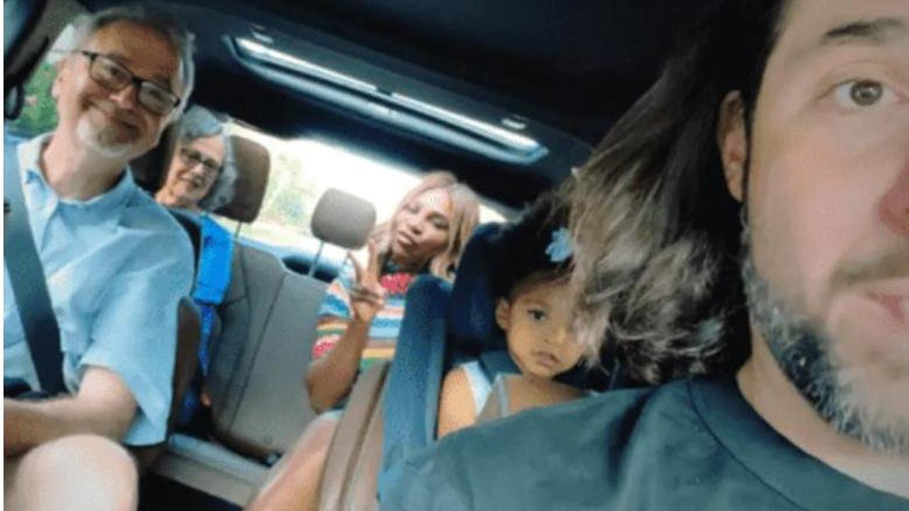 Serena, Husband, Daughter and In-laws Seen Having Fun in New Pics