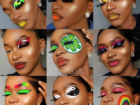 Creativity at it's peak, Check out these makeup pictures by a fast rising Nigerian IG influencer.