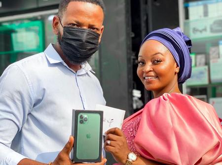 YOLO Star Aaron Adatsi buys Fresh iPhone 11Pro Max for his Baby Mama?