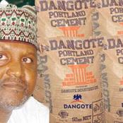 How Much Have You Been Buying Cement? Dangote Cement Releases The Official Price They Sell (Details)