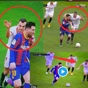 See What This Sevilla Player Did To Lionel Messi That Has Sparked Reactions Online (Photos & Video)
