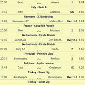 Place And Secure A Win On These Seven (7) VIP MultIbet Matches Set To Earn You Huge Returns Tonight