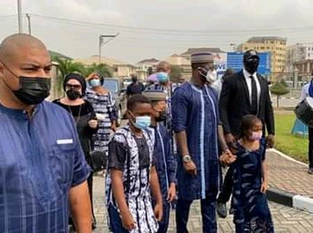 Finally The Late Father Of Peter Okoye's Wife Has Been Laid To Rest, See Pictures