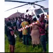 Black Tuesday: Check Out What Edo Youths Did To A Police Helicopter After It Landed In The State