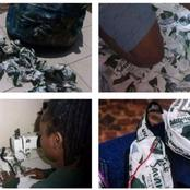 This Young Lady Caused A Stir On Twitter After She Designed These Bags Using Savanna Plastic Bags.