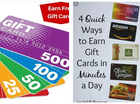 Opinion:Check Out Ways To Increase Your Income By Earning Free Gift Cards Online