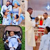 Reactions As Nollywood Actor, JnrPope, Shares Adorable Photos Of His Child Dedication Ceremony