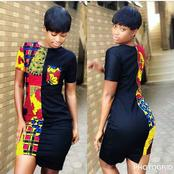 See Eye-popping Combination Of Ankara And Plain Material You Need To Try Out Before This Month End.