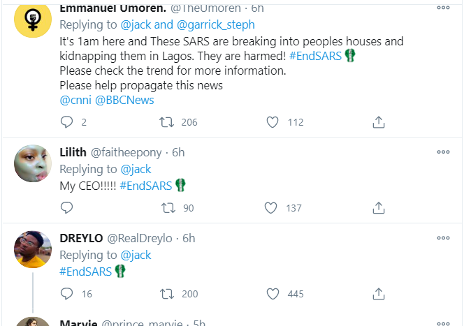 Twitter CEO, Jack Dorsey reveals special #EndSARS emoji after endorsing the movement