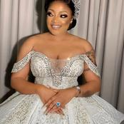 Nollywood actress Tayo Sobola finally ties the knot. See her wedding dress that got people talking