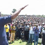 Photos Of DP Ruto At Raila Odinga's Backyard In Narok West Today