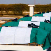 Burial Of The Seven Nigeria Air Force Officials That Died In Plane Crash (see photos)