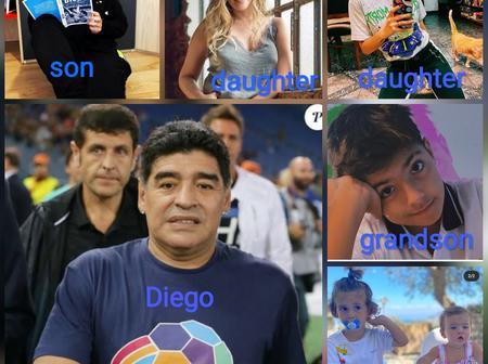 Photos: Checkout the 5 children and grandchildren Diego Maradona left behind