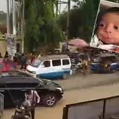 See how a car dropped off a lady and she ran mad instantly