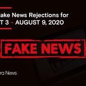 Major Fake News Rejections On Opera News This Past Week