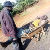 Meet Elgeyo Marakwet Drunkards Who Ferry Themselves Using Wheelbarrows