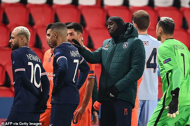 PSG and Istanbul Basaksehir players walk off during Champions League clash amid allegations of racism towards Turkish side