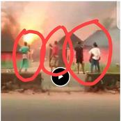 Safety First: See What Happened To These Boys Who Came Out With Phone To Video A Burning Gas Station