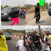 Tension As Angry Youths Came Out To Stop DSS, Army From Arresting Sunday Igboho(Video)