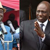 Raila Odinga's and William Ruto's Possible Line Up Should They Decide to Form a Coalition Come 2022.