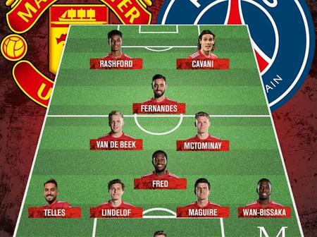 Manchester United Team To Face PSG, Cavani and Bruno Fernandes Key