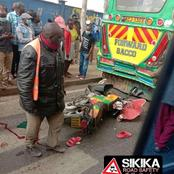 Tragic Accident Along Jogoo Road Leaving Bodaboda Rider Severely Injured