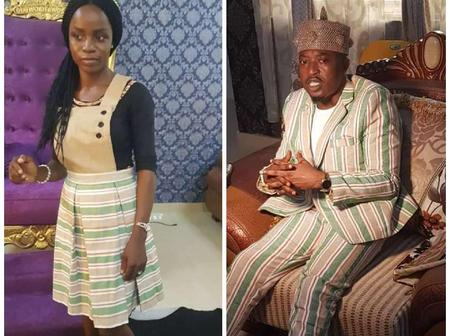 PHOTOS: Check Out Why Oluwo Wore The Same Cloth With This Beautiful Girl