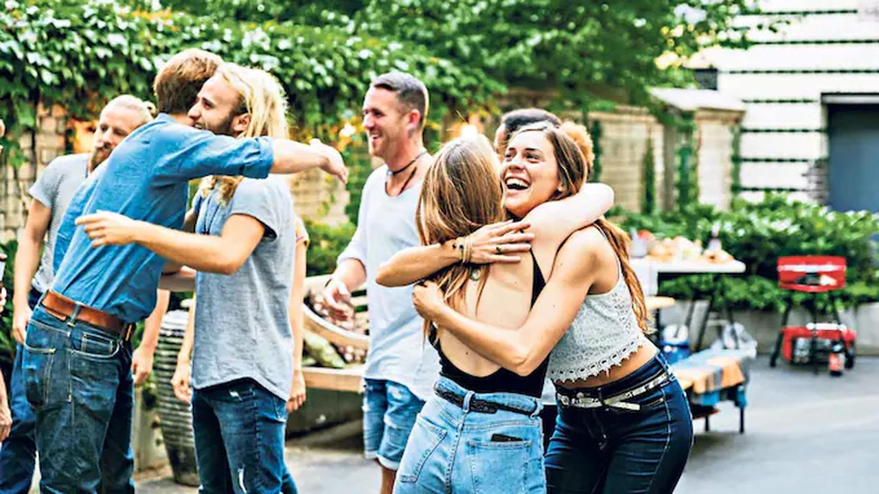Who else starts a party refusing to hug then ends up embracing everyone in sight?