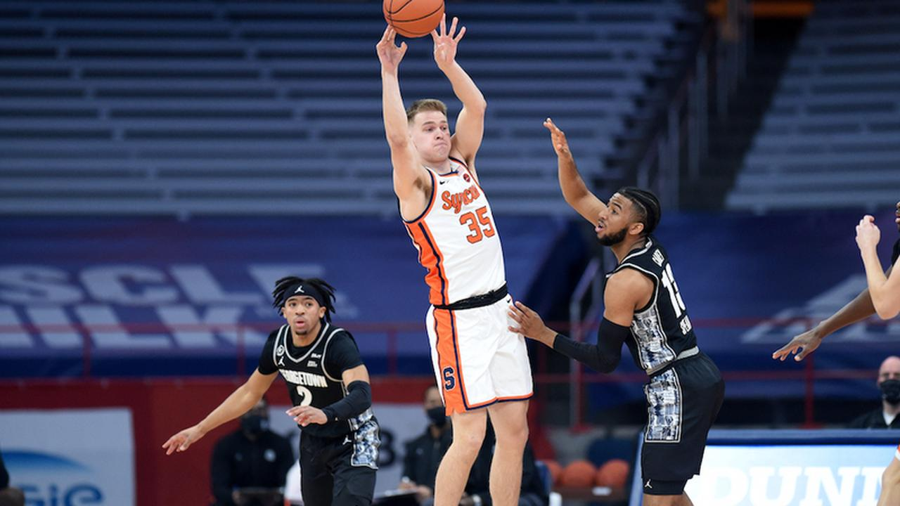 Syracuse avoids double-digit collapse with 74-69 win over Georgetown