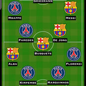 PSG Will Host Barcelona Tomorrow Checkout Their Combined Xi