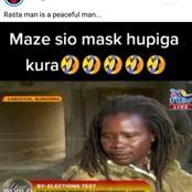 'Mwacheni Apige Kura', Kenyans Wowed by a Peaceful Rastaman Without a Mask at Kabuchai By-elections