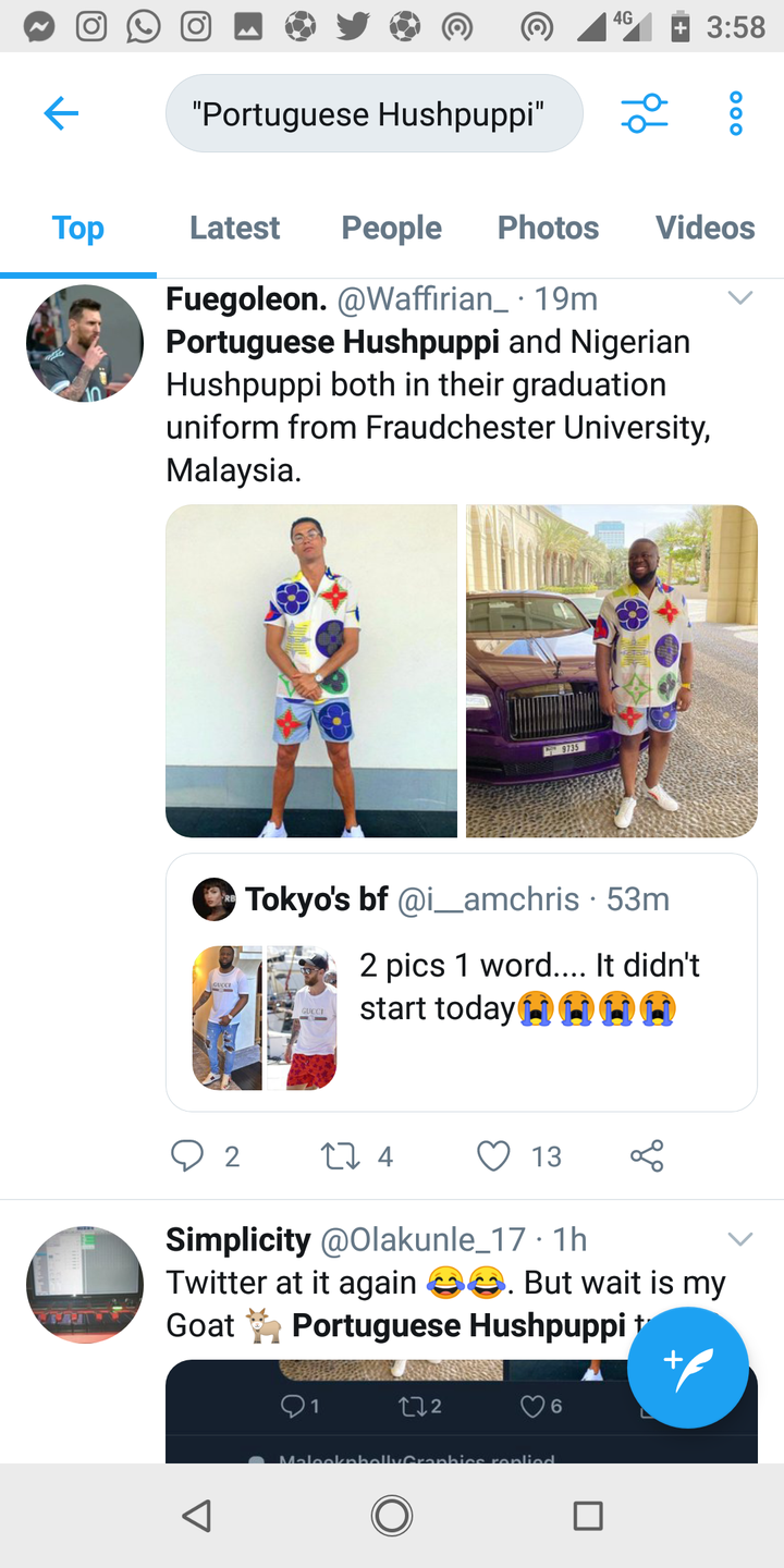 40cad99dffa779ebffdd77e688932975?quality=uhq&resize=720 - Reactions As Viral Photograph of Ronaldo Rocking Hushpuppi's Costume Noticed On-line